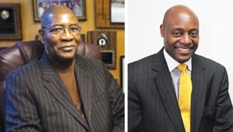 (NNPA) Rev. Amos Brown, pastor of the Third Baptist Church of San Francisco, and Rev. Anthony Evans, president of the ...