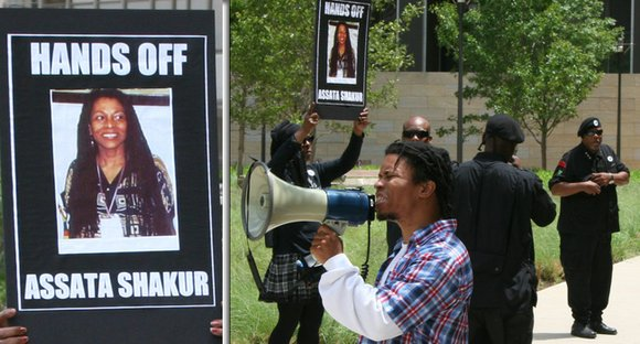 Members of the New Black Panther Party of Dallas held a rally last week to support Assata Shakur, also known ...