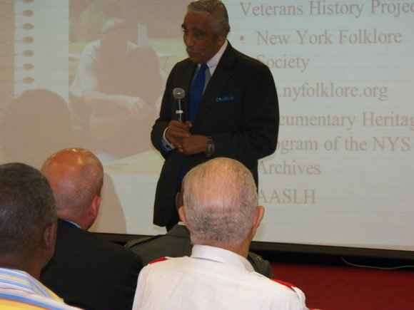 On June 24, Rep. Charles B. Rangel hosted dozens of veterans, including 92-year-old World War II veteran Rembert H. Brown, ...