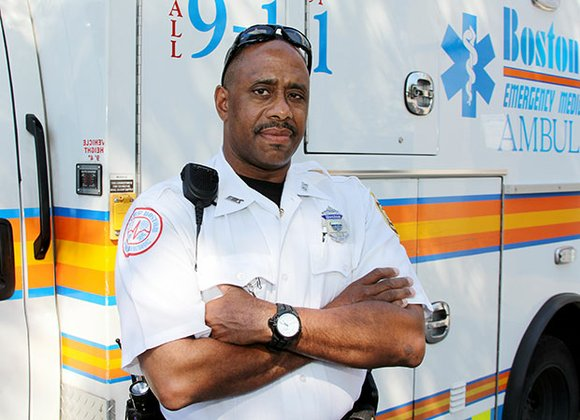 Zonius Wiley, a paramedic with the Boston Emergency Medical Services, urges calling 911 at the first sign of a stroke.