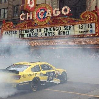 Dale Earnhardt Jr. took Chicago by storm on Monday, performing a celebratory burnout on State Street in front of the ...