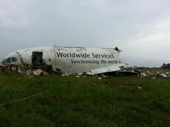 The pilot and co-pilot of a UPS cargo plane died Wednesday when their jet crashed, broke into pieces and burned ...