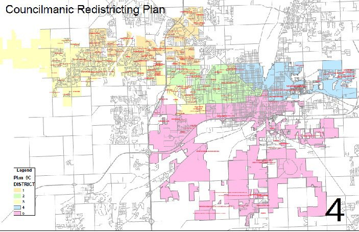 Council Districts To Change To Reflect Joliet Population Growth - Joliet map