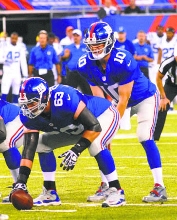 The Giants' distressing 27­-26 defeat to the defending NFC East champions the Dallas Cowboys on the road Sunday night