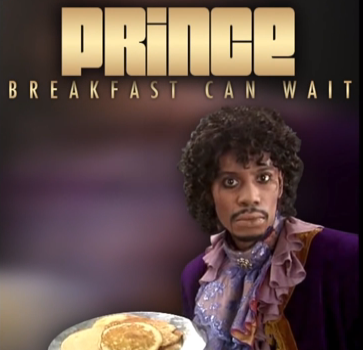 "Prince's new song ""Breakfast can Wait"" features an image of Dave Chappell in a Prince costume for the cover art."