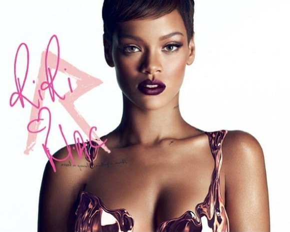 Rihanna has previewed her new makeup collection by uploading its first advertisement.