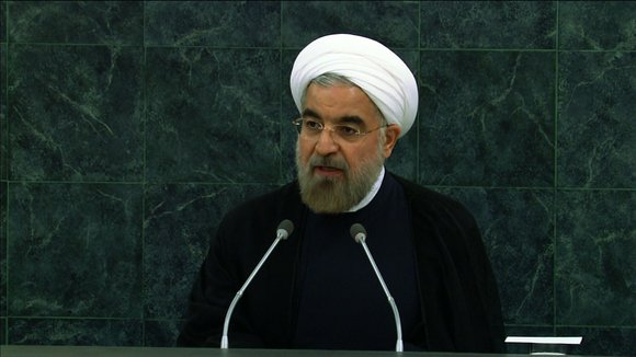 "Iranian President Hassan Rouhani made a strong call for an end to nuclear weapons, saying such disarmament ""remains our highest ..."