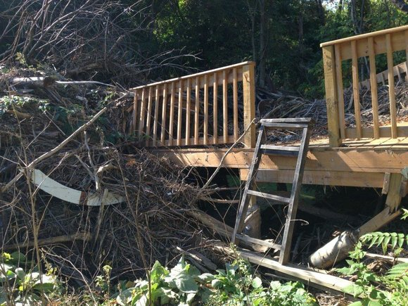 Shorewood officials are seeking federal assistance from FEMA that will help with a log jam of objects that were washed ...