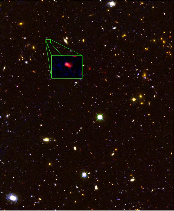 Scientists say they've found a galaxy that's not just far, far, away -- it's the most distant from our own ...