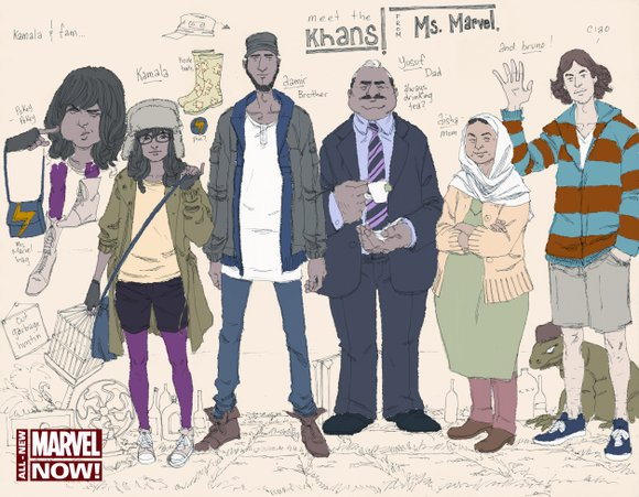 Comic book fans meet Ms. Marvel, Marvel Comic's first Muslim-American superhero. Kamala Khan, a fictional New Jersey teenager, transforms into ...