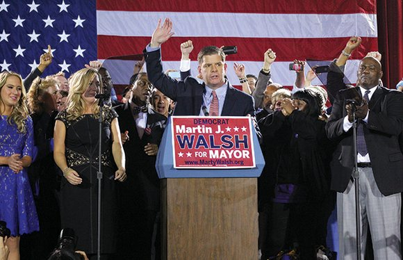 Backed by a formidable army of volunteers, state Rep. Marty Walsh opened up a lead of more than 4,908 votes ...