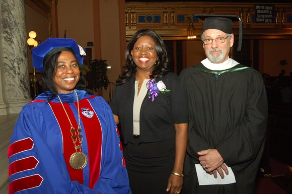 The Helene Fuld College of Nursing held its fall graduation ceremony at Mt. Olivet Baptist Church on Sunday