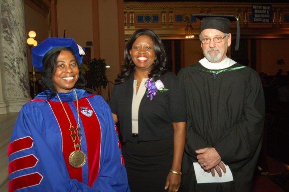 The Helene Fuld College of Nursing held its fall graduation ceremony at Mt. Olivet Baptist Church on Sunday