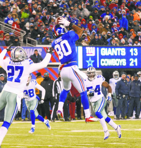 Mathematically, the Giants are in still in the playoff chase. Their 24-17 win over the Redskins in Washington on Sunday ...