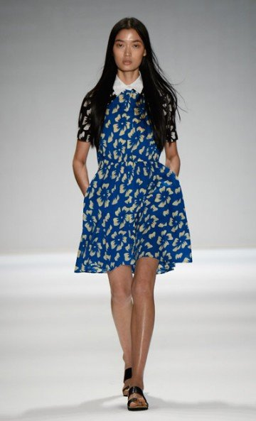 For spring '14, Vivienne Tam didn't focus on matching pieces or traditional styles. Her silhouettes are simple. She reached into ...