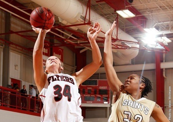 The Lewis University women's basketball team scored a season-high 54 points in the second half to spur the Flyers to ...