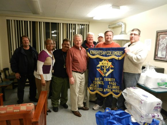 Members of Knights of Columbus Holy Trinity Council 4400 recently donated toiletries and other necessary items to the Permanent Supportive ...