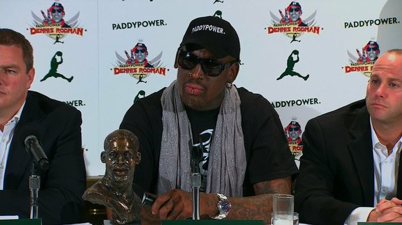 Eccentric basketball star Dennis Rodman and several other former NBA players have arrived in North Korea to take part in ...