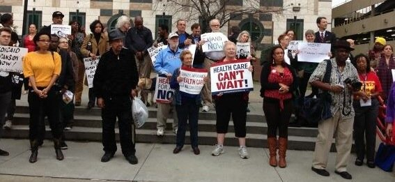 The group Moral Monday Georgia is staging a mass rally at the State Capitol on Jan. 13 to pressure Gov. ...