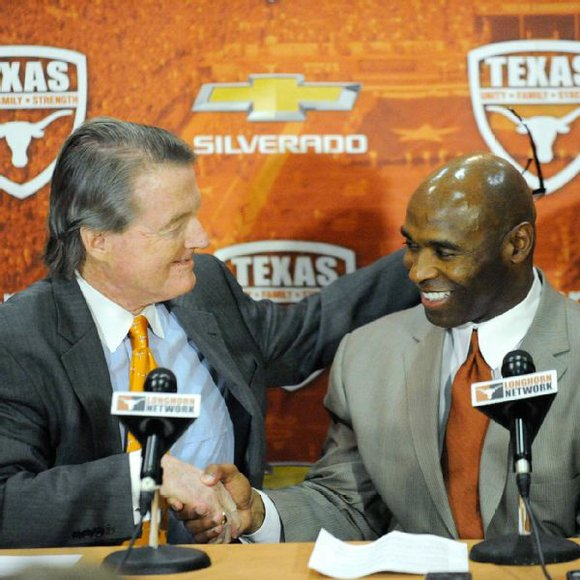 Charlie Strong is the first African-American head coach of men's team at Texas
