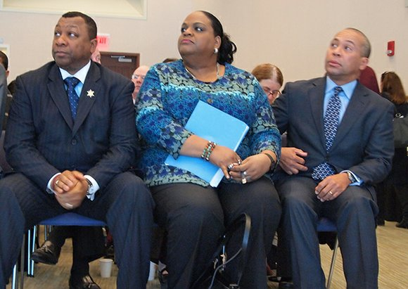 Speaking at a forum held at UMass Boston and sponsored by MassINC, Gov. Deval Patrick says recidivism, the rate at ...