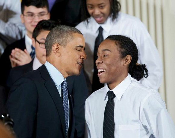 Introduced by Christian Champagne, 18, a senior at Hyde Park Career Academy, Chicago, President Barack Obama, last week delivered a ...