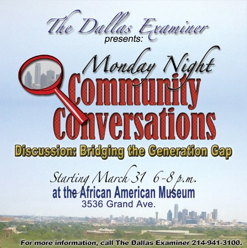 It's not a forum. It's not a lecture. It's not a workshop. It's a conversation with the community regarding issues ...