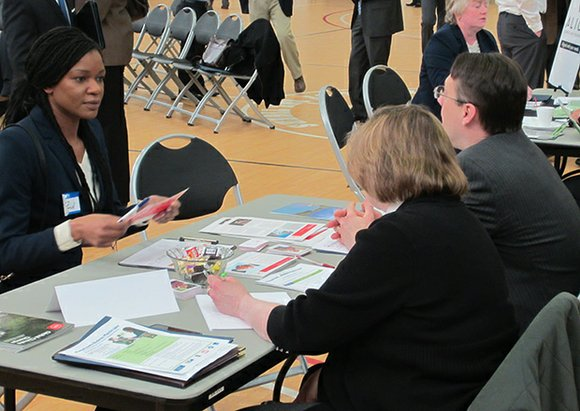 Small businesses in the Boston area got a chance to pitch their services to government agencies and government contractors in ...