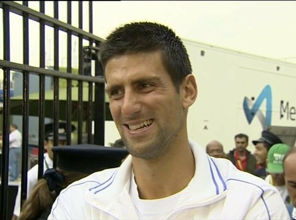 Novak Djokovic got more good luck at the Miami Masters on Friday.