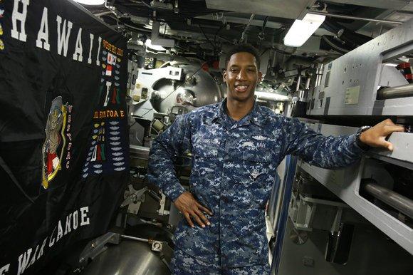 Local Rancho Cucamonga Aaron R. Washington serves aboard USS Hawaii