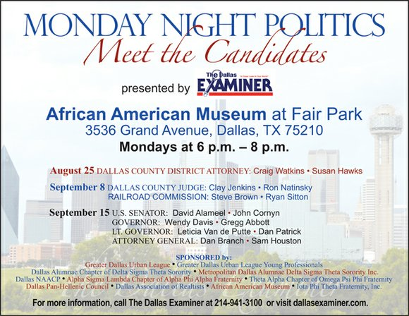 Monday Night Politics – Meet the Candidates is a political forum in which candidates are invited to present their platform ...
