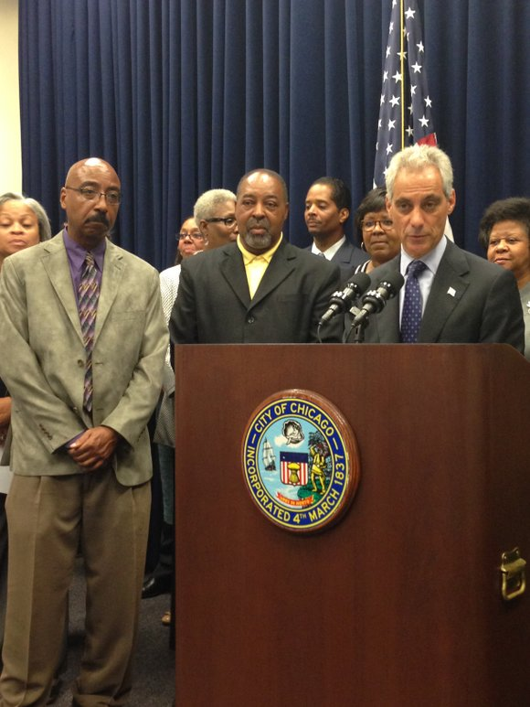 On Sept.10, at Chicago's City Hall, 121 N. LaSalle St., Chicago Mayor Rahm Emanuel joined Chicago Football Classic Inc. co-founders, ...