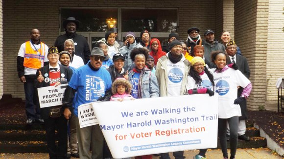 The cold, rainy morning may have accounted in part for the low turnout for The Mayor Harold Washington Legacy Committee's ...