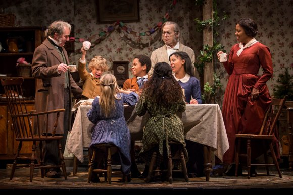 I was the newbie, probably the only adult in Goodman's Albert Theatre who had never seen Dicken's A Christmas Carol. ...