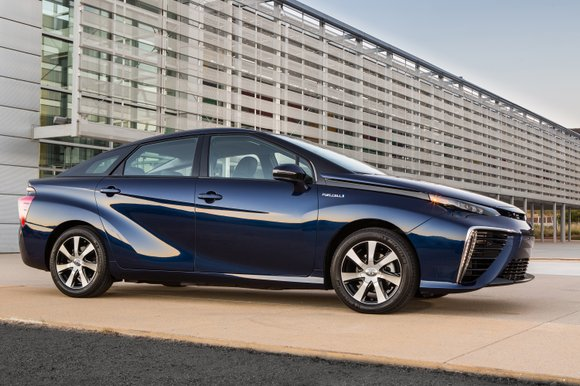 "The Future is here and Akio Toyoda said he has seen it. It is called ""Mirai."" In Japanese, ""Mirai"" means ..."