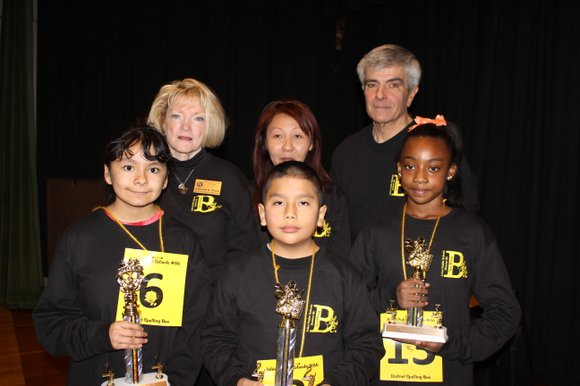 After 24 rounds, three fifth grade students earned top honors at the District 86 Elementary School Spelling Bee Contest.