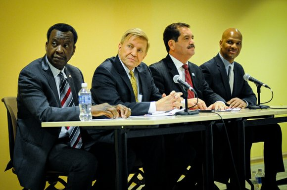 Chicago State University (CSU), 9501 S. King Dr., last week, hosted a mayoral candidates forum at New Academic Library's, CSU's ...