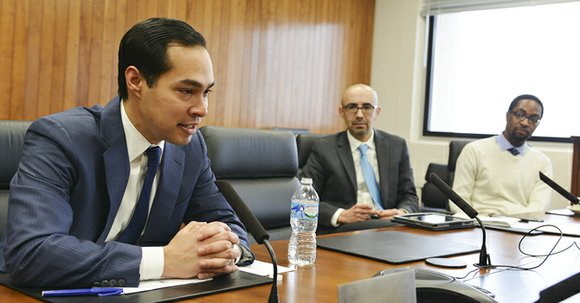 Julián Castro, the secretary of the Department of Housing and Urban Development, wants to provide broadband access to public housing ...