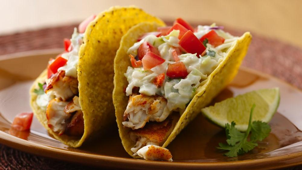 Spicy fish tacos with fresh lime sauce the times weekly for Fish taco seasoning