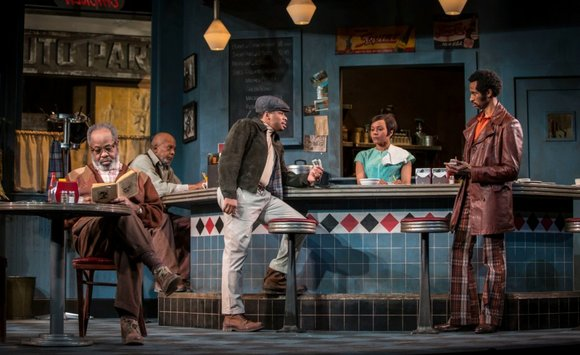 "Goodman Theatre's revival of Pulitzer Prize winning playwright August Wilson's ""Two Trains Running"" is the centerpiece of a citywide celebration ..."