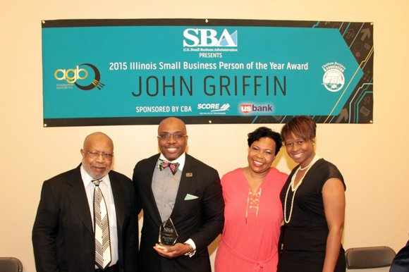 Surrounded by family, friends and fellow Chatham Business Association (CBA) members, John Griffin, Jr., 46, president/CEO of AGB Investigative Services, ...