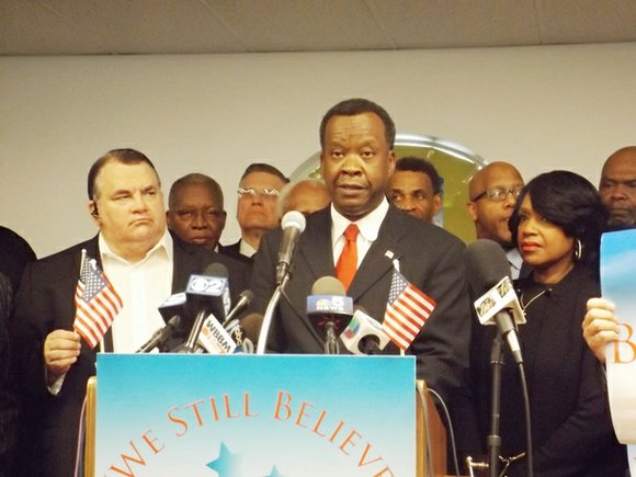 It's official. Millionaire businessman, Willie Wilson, announced with his wife by his side, during a Monday morning news conference held ...