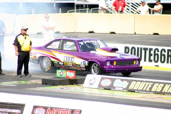 Once a year, the biggest stars in drag racing roar down the drag strip at the Route 66 Raceway Nationals ...