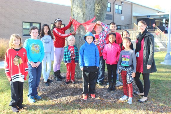 R.C. Hill Elementary School students kicked off Red Ribbon Week Monday...