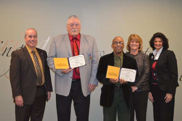 Two Joliet Central alumni who left their classrooms to serve their country in Vietnam were awarded high school diplomas by ...