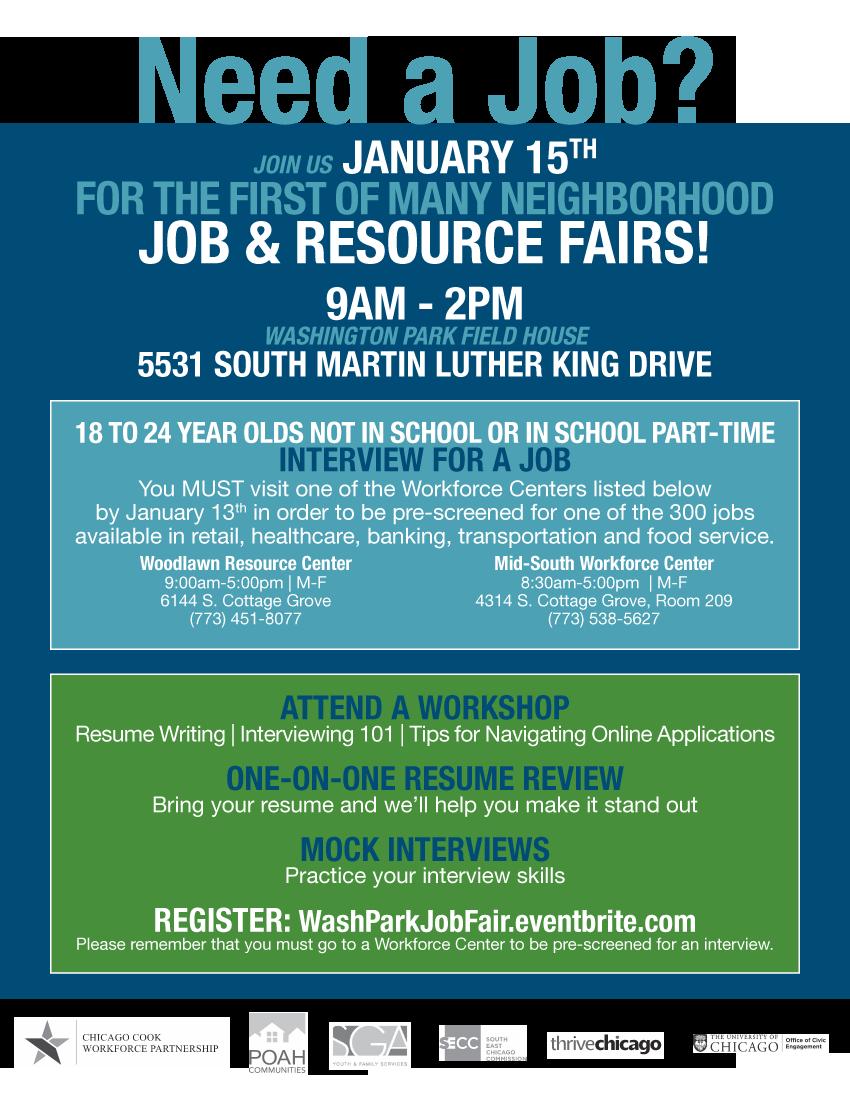 Job Resource Fair Chicago Citizens Newspaper Premier African