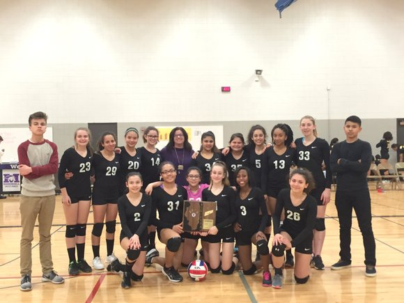 Brooks Middle School is headed to the IESA 8th grade girls volleyball state quarterfinals after whipping Rockford Eisenhower 25-12 and ...