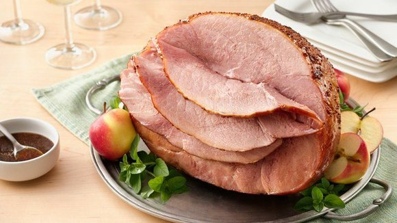 SERVINGS: 20 Ingredients 1 5-8 lb. fully cooked ham half (shank or butt end) 1/2 cup packed brown sugar 1/4 ...