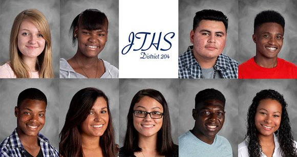 Joliet Central High School Students of the Month for April are Sara Koziol, Kiwanis Club; Erika Gibson, Rotary Club; Gabriel ...
