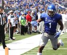 Anthony Miller rolls into the end zone after hauling in a pass from Riley Ferguson and dazzling the crowd with a 84-yard touchdown.  (Photo: Warren Roseborough)